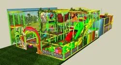 Kids Soft Indoor Playstation and Trampoline Zone Jungle Theme