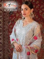 Khayyira Suits Alzohaib Vol 2 Georgette With Embroidery Work Pakistani Suit Catalog