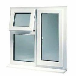 White UPVC Double Glazed Combination Window, Glass Thickness: 5 Mm