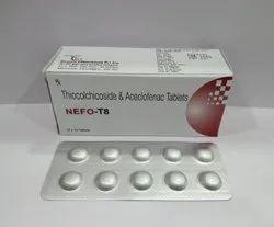 Thiocolchicoside 8mg + Aceclofenac 100mg