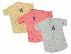 twill Mens Casual Wear Cotton Printed Shirt