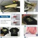 Neon Orange Iron on Glitter Heat Vinyl Transfer HTV Rolls for T-Shirt
