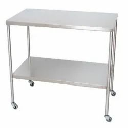 Stainless Steel Hospital Table, Instrument Table, for Hospital Purpose