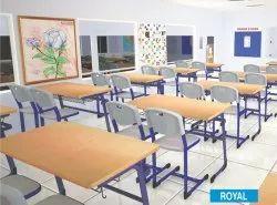 Double Desk School And College Furniture