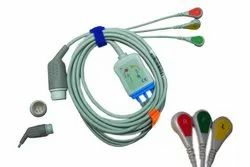 Adult 3 Lead HP Codemaster Button ECG Cable, For Hospital