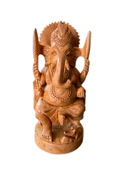 Wooden Ganesh Ji Wooden  inch