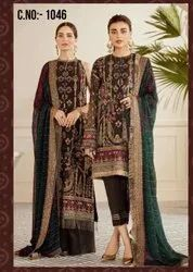 pransul Fashion Georgette Ramzan Special Suit with Embroideried Work and Dupatta, Dry clean