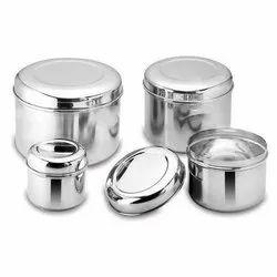 Silver Stainless Steel Storage Box, Packaging Type: Bulk