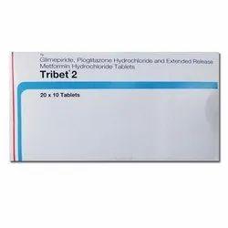 Glimepiride 2mg Metformin 500mg Pioglitazone 15mg Tablet