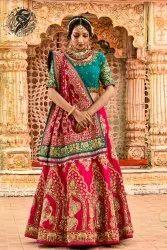 Raw Silk Hand Work Royal Raja Rani Wedding Bridal Wear