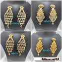 LCD Long Earring Jewellery Set For Women And Girl Bijoux