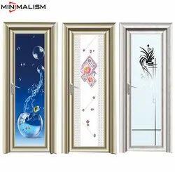 Fortune Bombay Section Aluminium Bathroom Door, Design/Pattern: Customization