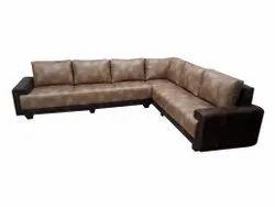 Foam, Leather Modern L Shape Leather Sofa Set, Hall
