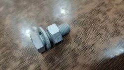 HIP Round Silver Nut Bolt, For Hardware Fitting, Size: 1 Inch