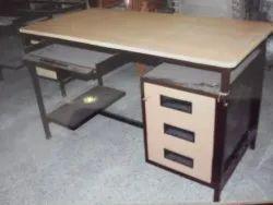 Metal Steel Office Table, 1 Year, Grey
