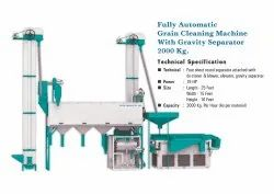 Fully Automatic Grain Cleaning Machine with Gravity Separator - 2000kg