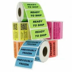 ChromoArt Colored Paper Barcode Labels, For Packaging, Packaging Type: Roll