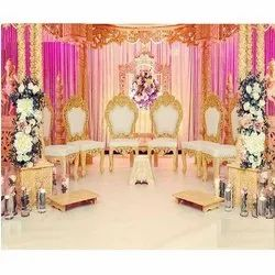 Dstexports Antique Modern Design Chairs For Wedding Mandap, Finish: Perfect Finish