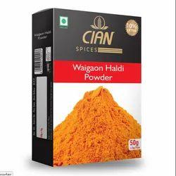 Polished Maharashtra CIAN Waigaon Haldi Powder Spices 100gm, For Food
