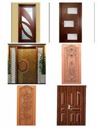 Diamond Exterior Wooden Carved Doors, For Home