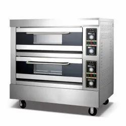 Gas Double Deck 4 Tray Oven