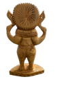 Ganesh Ji 6 Inch Wooden Murti In Standing