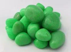 Aquarium Tumbled Polished Coloured Green River Pebble