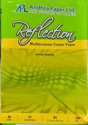 White Reflection A4 Paper, Packaging Size: 500 Sheets per pack, Packaging Type: Box
