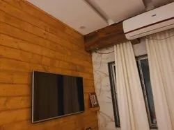 Proczo Brown Wooden TV Unit Service, For Home