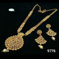 Long Bijoux Haar Necklace And Earring Jewellery Set For Women And Girl 7