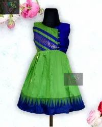 Available in 8 colors Girls Cotton Frocks