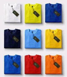 Half Sleeve Cotton Plain Round Neck T Shirt
