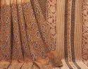 Bagru Dabu Hand Block Printed Cotton Saree With Blouse Piece.