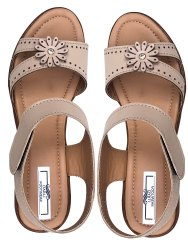 Darli Wedges Flower Sandal, For Casual Wear, 7-12