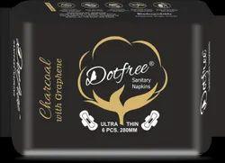 DOTFREE 280mm Charcoal Sanitary Napkins