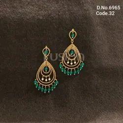Fusion Arts Antique Chandbali Earrings
