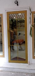 Polished Mild Steel Door, For Home, Single