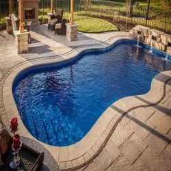 Blue Outdoor FRP Swimming Pool, For Hotels/Resorts, Dimension: 20x8 Feet