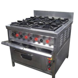 Stainless Steel 4 Burner Gas Range With Oven