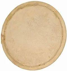 Natural Professional Quality Dholak Goatskin Dyan Drum Bass Head Skin, Size: Variation