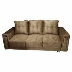 Modern Velvet Designer Three Seater Sofa, Hall, 5 Inch