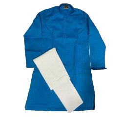 Cotton Linen Casual Wear Mens Plain Kurta Pajama, Machine and Hand Wash