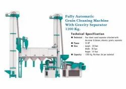Fully Automatic Grain Cleaning Machine with Gravity Separator 1200KG