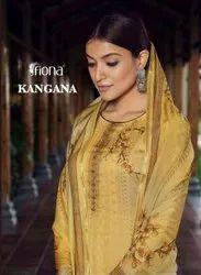 Fiona Kangana Pure Jam With Work Designer Salwar Suit Catalog