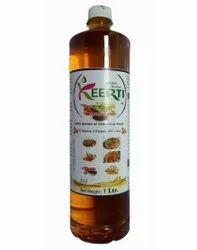 1 Liter Keerti Mustard Oil, Packaging Type: Plastic Bottle