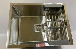 Aarvik Stainless Steel Glossy  (24/18) Finish Handmade Kitchen Sinks