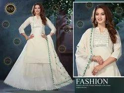 Off-White Designer Cotton Gharara Set