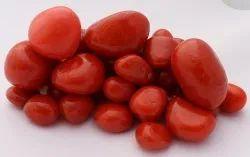 Aquarium Tumbled Polished Colour Red River Pebble