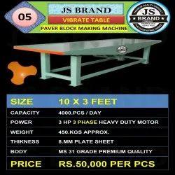 450 Kgs Vibrate Table Paver Block Making Machine