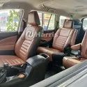 Front & Back Brown Leather Seat Cover